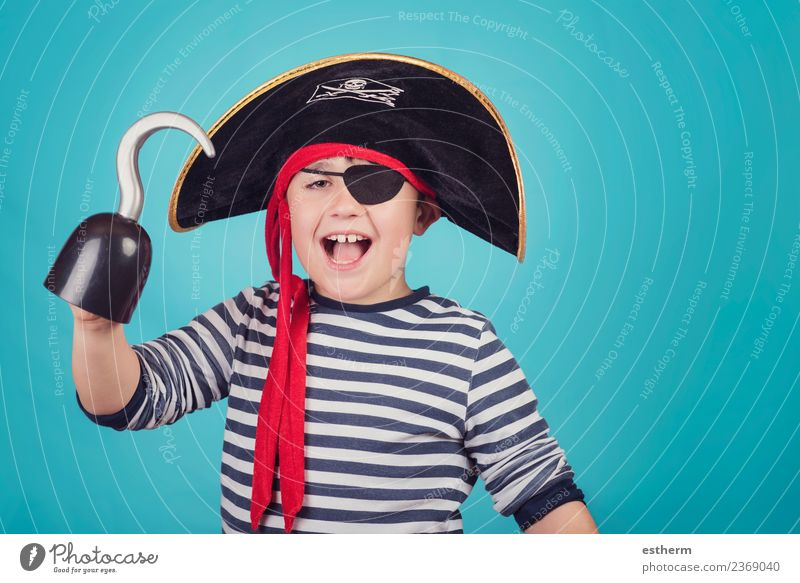 boy dressed as a pirate Child Human being Vacation & Travel Joy Lifestyle Emotions Movement Party Feasts & Celebrations Masculine Infancy Birthday Happiness