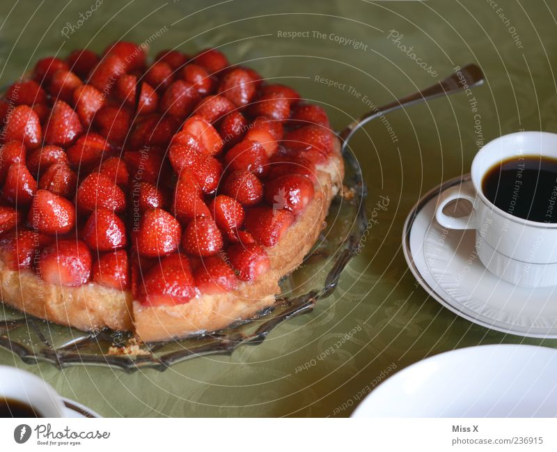 Red Nutrition Food Fruit Fresh Beverage Coffee Sweet Cake Delicious Appetite Baked goods Strawberry Gateau Juicy