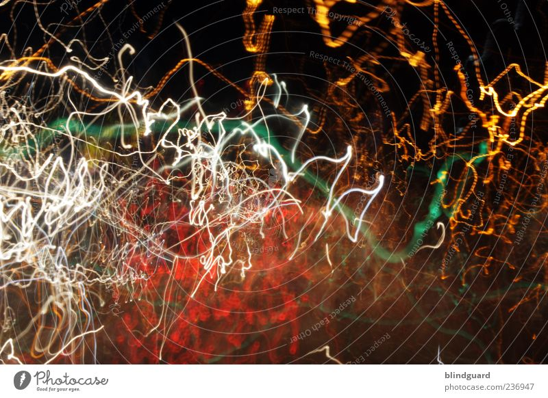White Green Red Yellow Line Speed Illuminate Many Long Chaos Muddled Irritation Night life Tracer path Strip of light