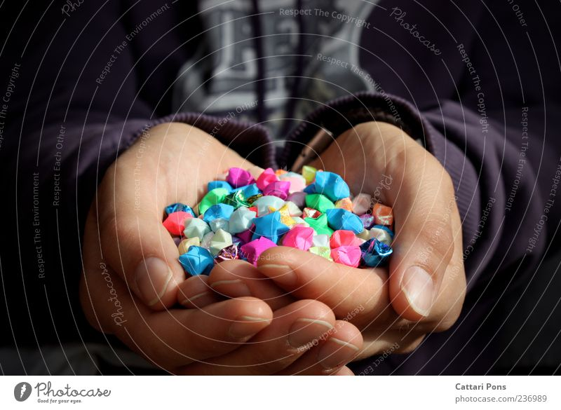 Man Hand Beautiful Joy Adults Happy Fingers Star (Symbol) Paper Uniqueness Many To hold on Near Thin Indicate Sweater