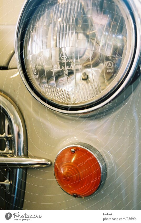 Gray Car Technology Floodlight Vintage car Varnish Chrome Spoon bait Electrical equipment