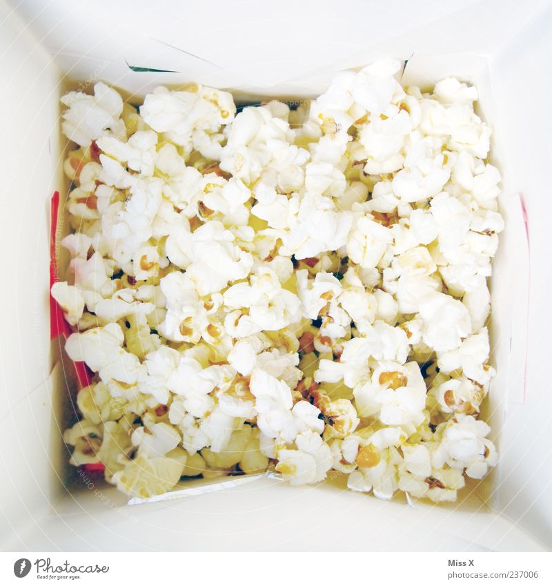 White Nutrition Food Sweet Many Appetite Candy Delicious Paper bag Packaging Popcorn Crisp