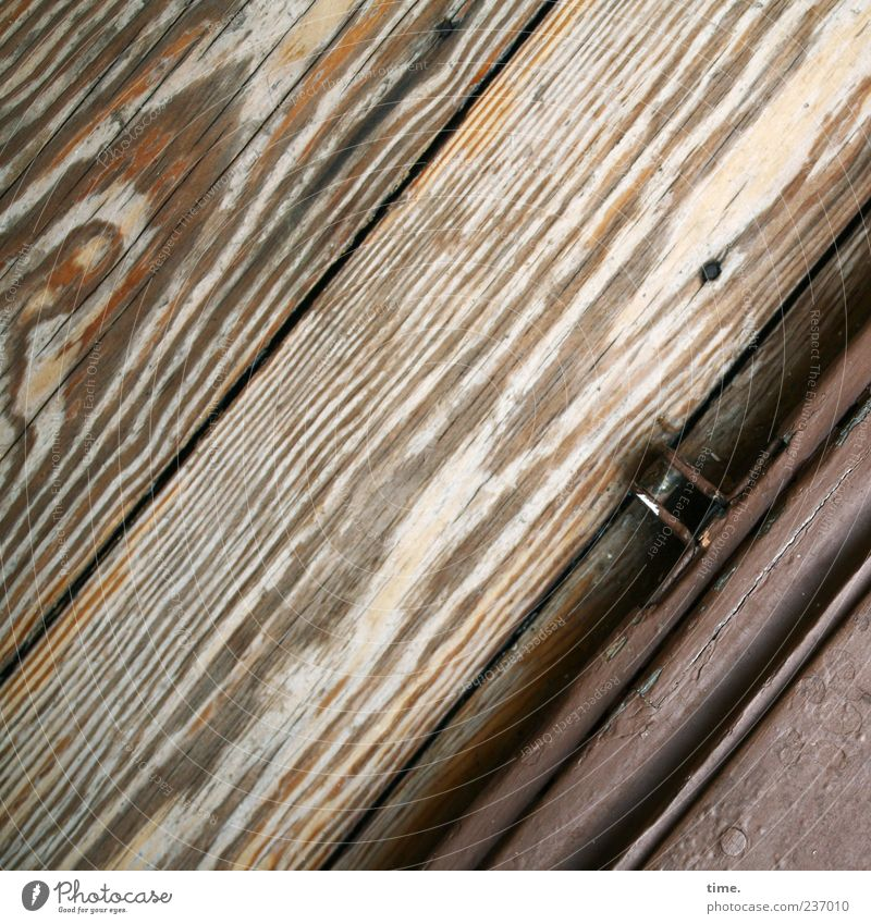 Old Colour Wood Brown Metalware Diagonal Rust Parallel Seam Abrasion Wood grain Door Doorstep