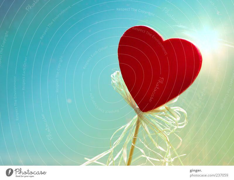 Blue Red Yellow Wood Heart Decoration Romance Symbols and metaphors Kitsch String Turquoise Infatuation Slice Bow Progress Rod