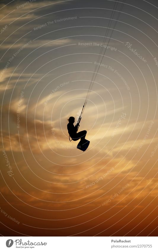 #AS# Skykiter Sports To enjoy Kiting Aquatics Flying Sunset Rope Snowboard Man Kite Kiter Kiteboard Water Coast Freedom Extreme sports Talented Practice