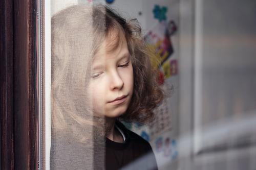 Why? | Portrait of a sad boy at the window Child Boy (child) Infancy Life 1 Human being 8 - 13 years Brunette Blonde Long-haired Curl Sadness Grief