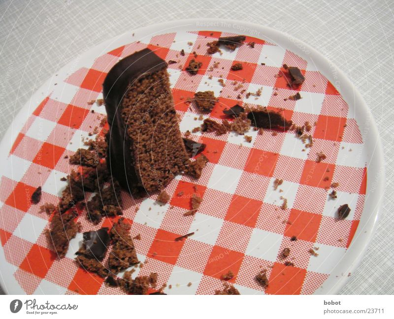tasty cake Cake Plate Crumbs Chocolate Gateau Baked goods Chocolate cake Cooking Feasts & Celebrations whoiscocoon