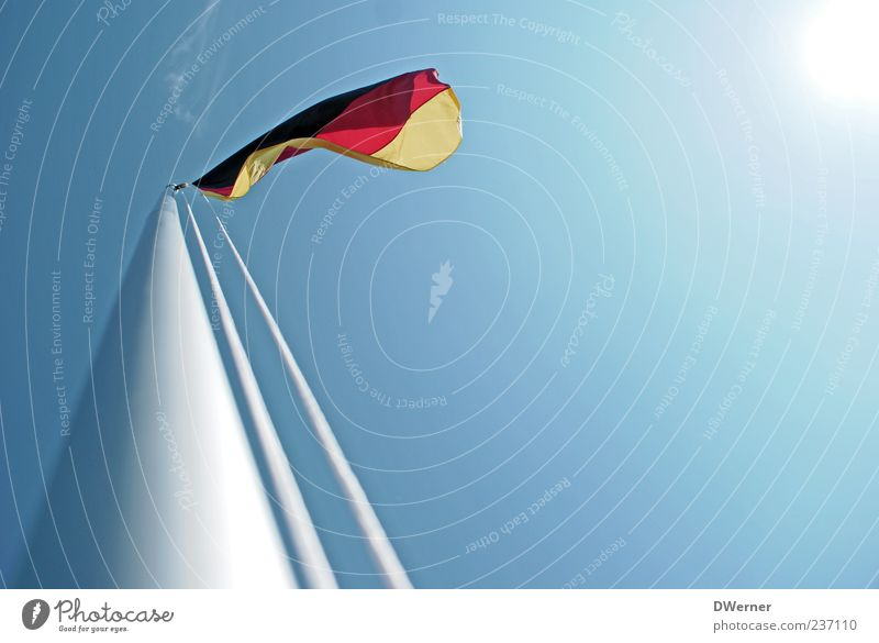 Sky Summer Freedom Movement Bright Germany Wind Signs and labeling Tourism Esthetic Happiness Symbols and metaphors Beautiful weather Flag Infinity
