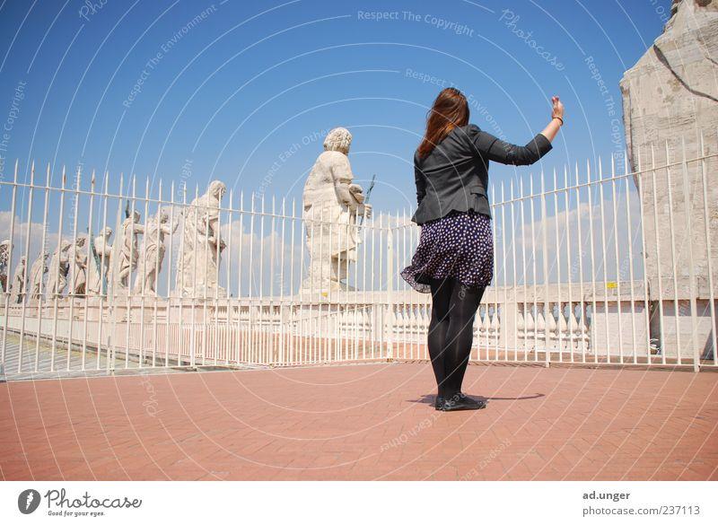 Human being Calm Feminine Stone Tourism Individual Pure Historic Monument Statue Landmark Sculpture Tourist Attraction Tourist Rome Perspective