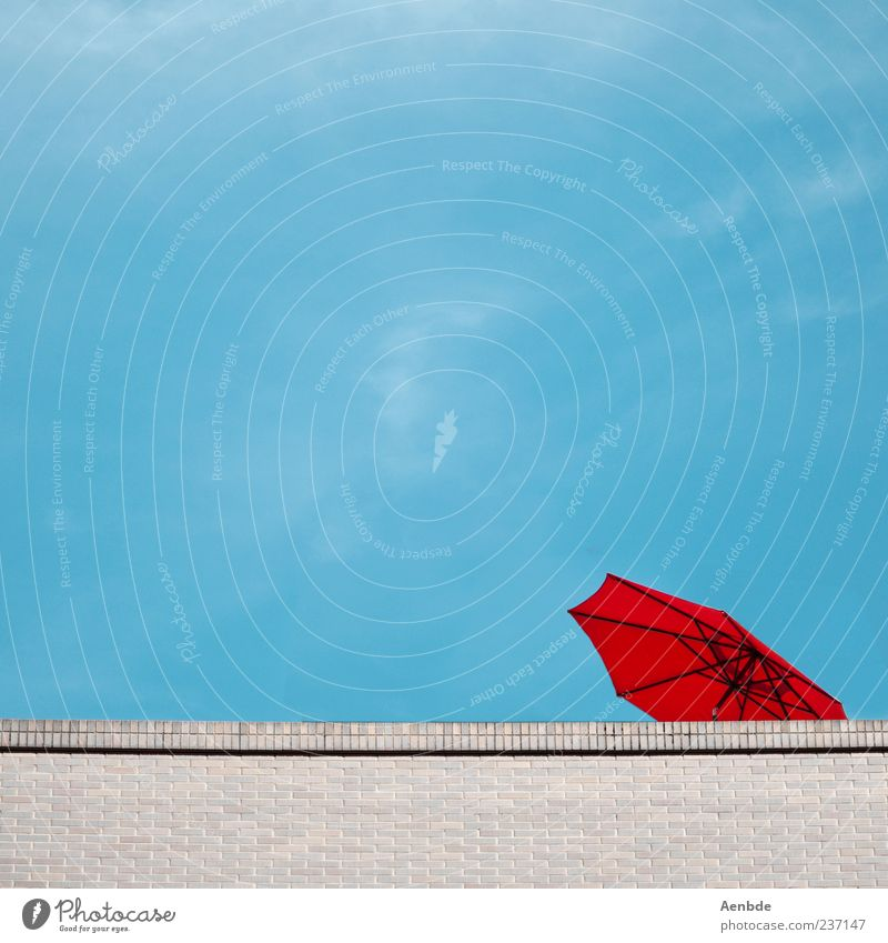 Blue Vacation & Travel Red Summer House (Residential Structure) Wall (barrier) Roof Symbols and metaphors Brick Sunshade Umbrellas & Shades