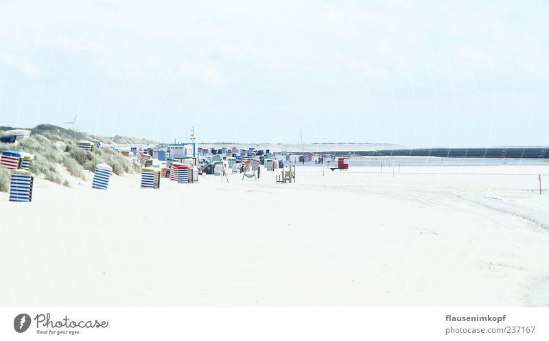 Sky Vacation & Travel Ocean Summer Beach Calm Relaxation Sand Beautiful weather Beach chair Borkum
