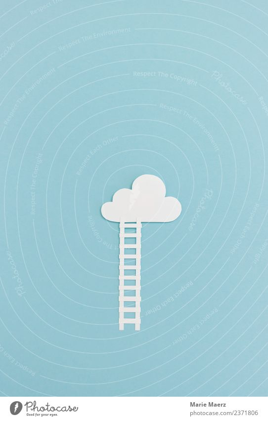 Stairs to the clouds Education Study Career Discover Make Infinity Curiosity Blue Virtuous Brave Interest Freedom Horizon Dream Height Clouds Target Thought