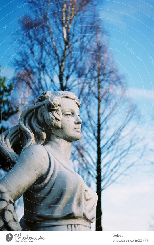 Stoned II Statue Woman Stagnating Sunrise Dress Concrete Art Sculpture Craft (trade) Sky Blue petrified whoiscocoon