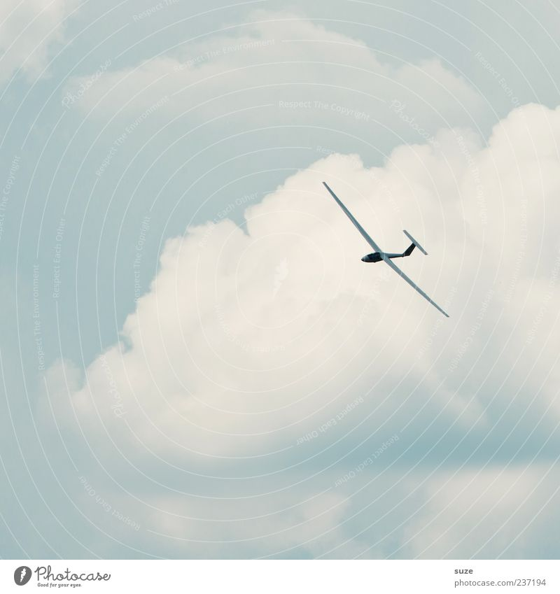 Huuuiiiiiii Leisure and hobbies Freedom Aviation Environment Sky Clouds Climate Beautiful weather Wind Two-seater Sailplane Flying Friendliness Bright Blue