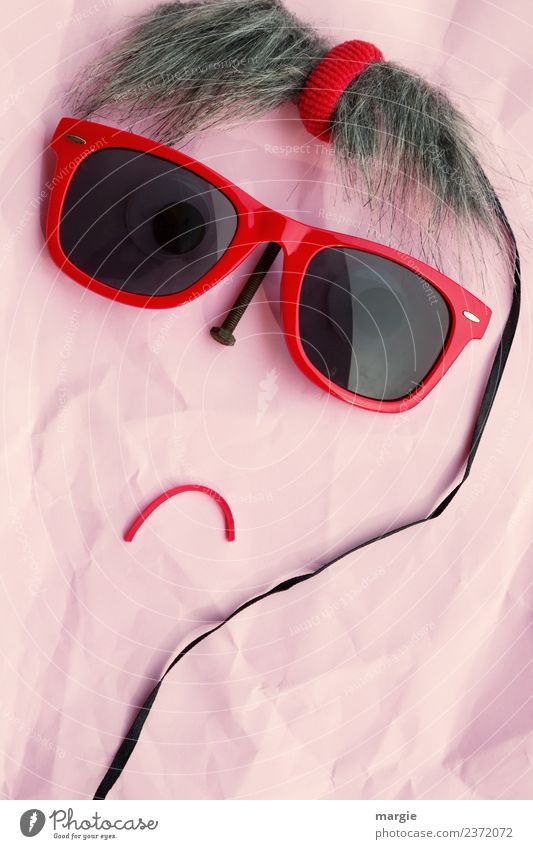 Emotions: cool faces, collage with sunglasses! Leisure and hobbies Human being Feminine Young woman Youth (Young adults) Woman Adults Face 1 Hair and hairstyles