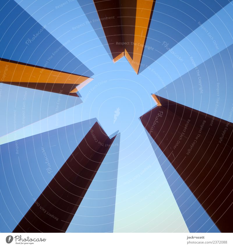 join two Quads together 3 Blue Architecture Style Art Exceptional Moody Metal Perspective Change Stripe Long Sharp-edged Double exposure Square Flexible