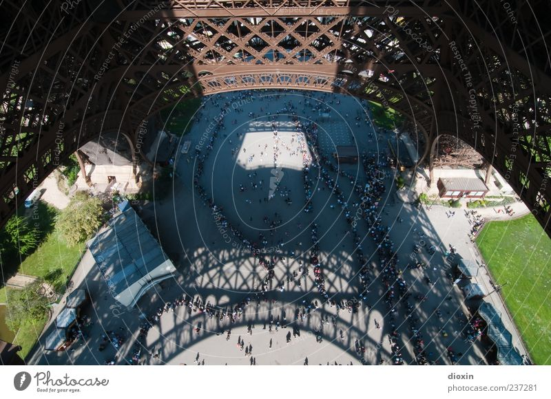 Human being Vacation & Travel Architecture Building Tourism Europe Paris Crowd of people Landmark France Tourist Attraction Capital city Sightseeing Eiffel Tower City trip