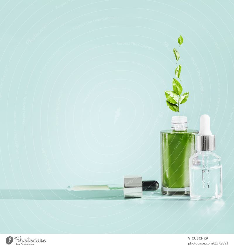 Nature Beautiful Green Healthy Background picture Health care Style Design Glass Shopping Wellness Beauty Photography Hip & trendy Cosmetics Bottle Liquid
