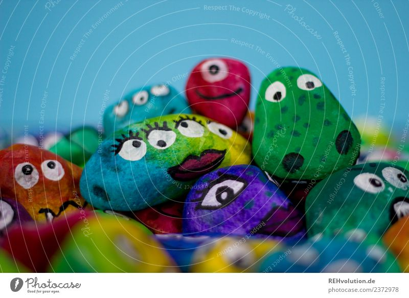Animal Face Eyes Emotions Art Exceptional Stone Creativity Crazy Idea Figure Difference Painted Character Monster