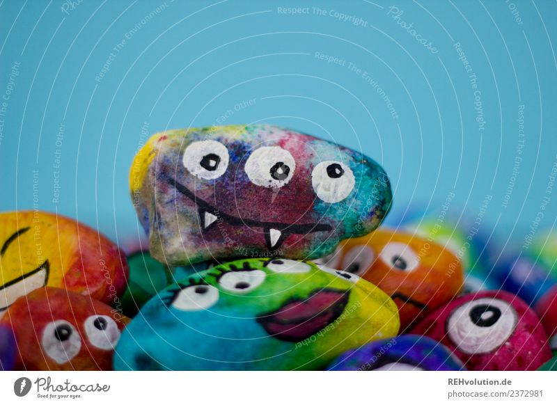 Monster rocks, colorful! Group Art Culture Smiling Exceptional Uniqueness Funny Crazy Emotions Moody Chaos Identity Sociology Character Difference Together