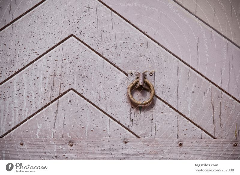 bell Door Pink Line Arrow Graphic Old Ancient Background picture Structures and shapes Wood grain Pattern Entrance Gate Wooden gate Wooden door Metal ring 1