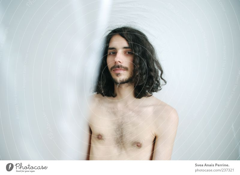 Human being Youth (Young adults) Face Adults Hair and hairstyles Skin Masculine 18 - 30 years Uniqueness Thin Chest Curl Facial hair Long-haired Black-haired