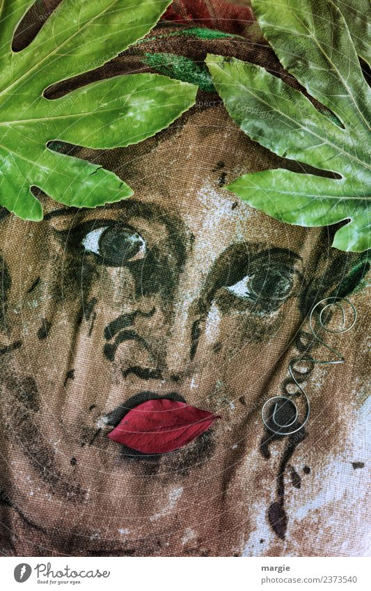 Emotions...cool faces: The Greek Goddess Lifestyle Elegant Style pretty Human being Feminine Woman Adults Face Eyes Nose Mouth 1 Art Artist Work of art Plant