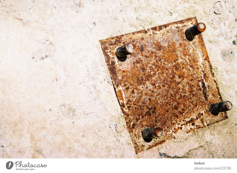 Rust in square Steel Dismantling Rip Industry Stone Screw Old Metal whoiscocoon