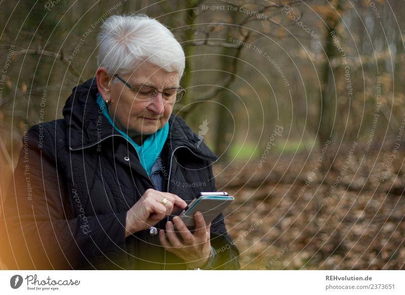 Woman Human being Nature Old Landscape Winter Forest Adults Lifestyle Environment Autumn Senior citizen Masculine Communicate Technology Telecommunications