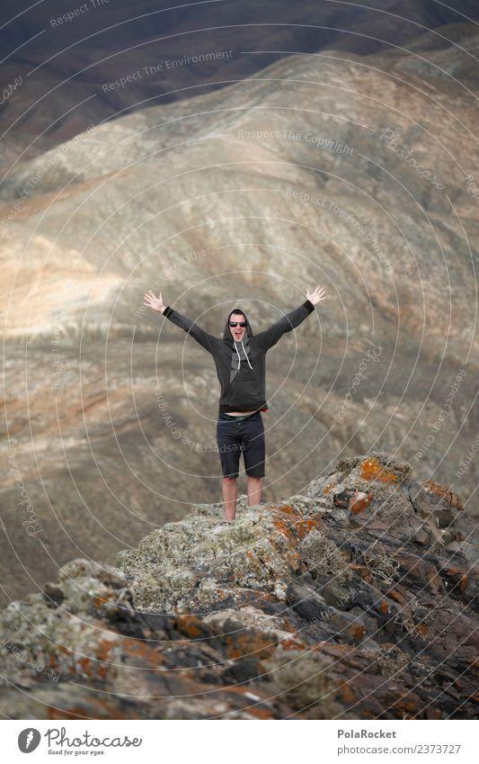 #AS# be free Environment Nature Esthetic Mountain Peak Snowcapped peak Peak cross Joy Reach Target Walking Climbing Exterior shot Youth culture Young man