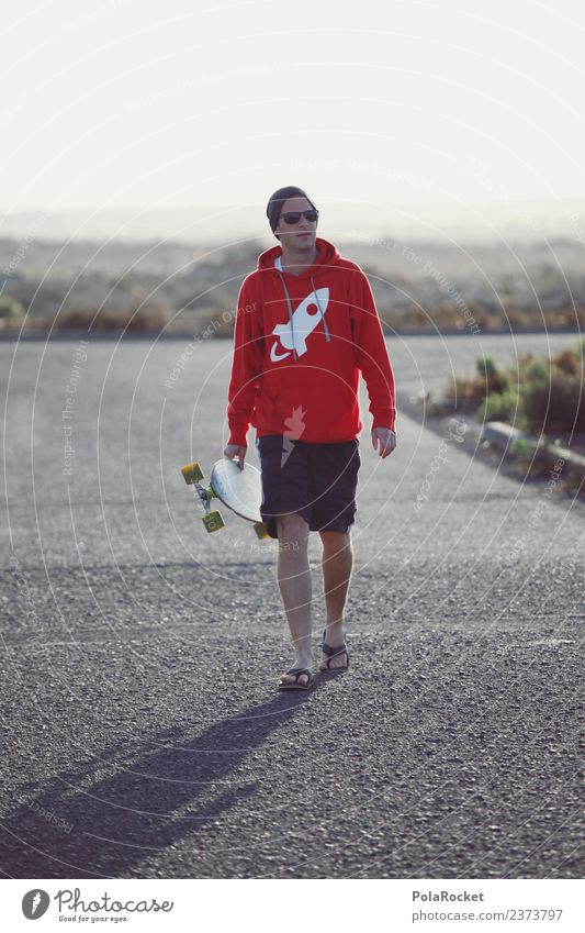 #AS# outside Art Esthetic Inline skating Skateboard Longboard Exterior shot Youth culture Freedom Walking Leisure and hobbies Youth (Young adults) Fuerteventura