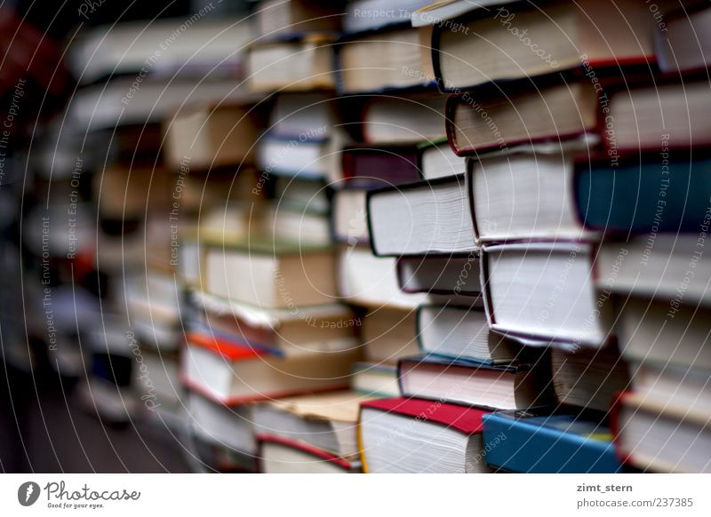 Blue White Red Think Book Study Education Science & Research Inspiration Sharp-edged Print media Arrangement Endurance Bookshop Diligent Library