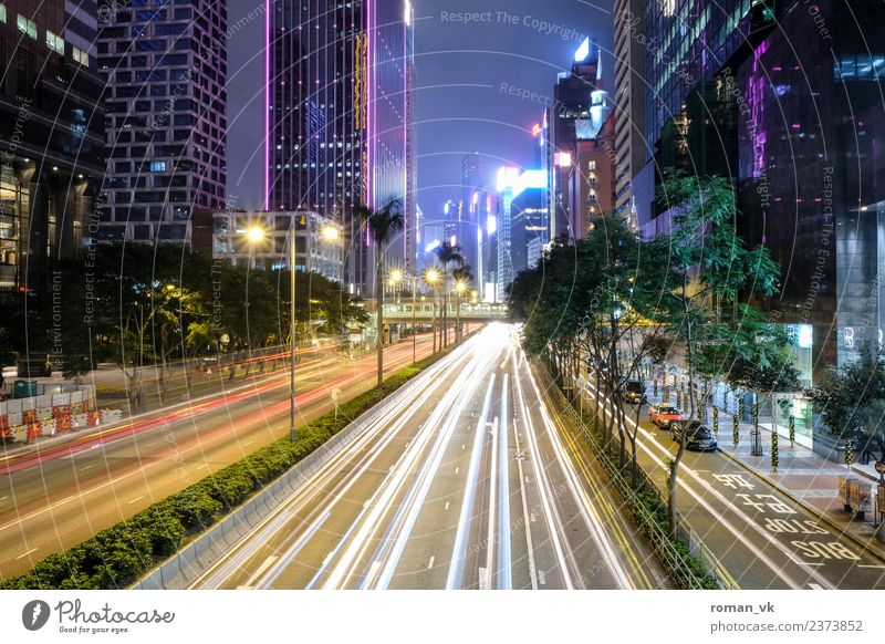 Don't lose any time! Hongkong Capital city Downtown Skyline Populated Glittering Crazy Future stream Radial Highway Freeway Speed Delightful Transport Restless