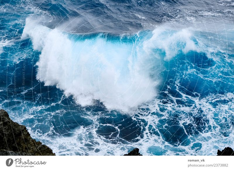 Don't make that wave! Environment Nature Elements Gale Coast North Sea Ocean Esthetic Cold Waves Power Fresh Momentum White crest Wind harsh Rough Blue Wild