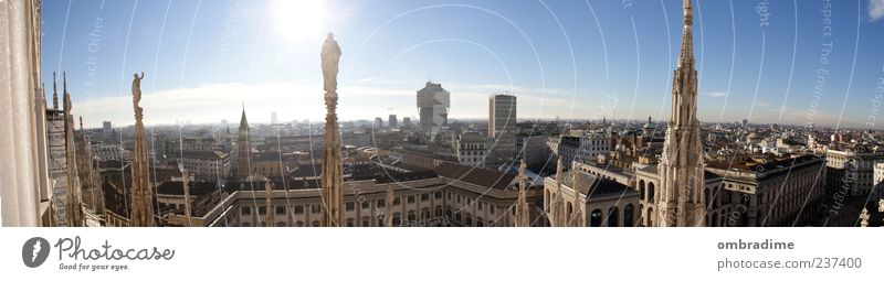 City Beautiful Sun Summer Architecture Building Horizon High-rise Church Europe Roof Culture Manmade structures Italy Beautiful weather Monument