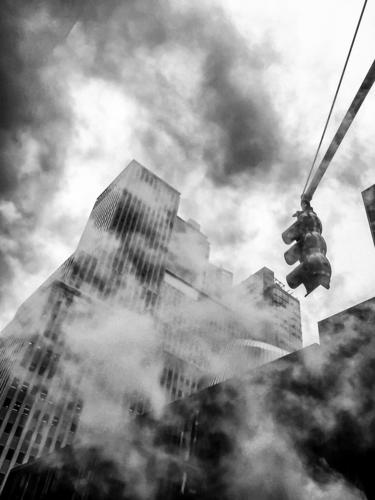 Smoke in Manhattan New York Vacation & Travel Trip Freedom Sightseeing City trip Capital city Port City High-rise Bank building Manmade structures Building
