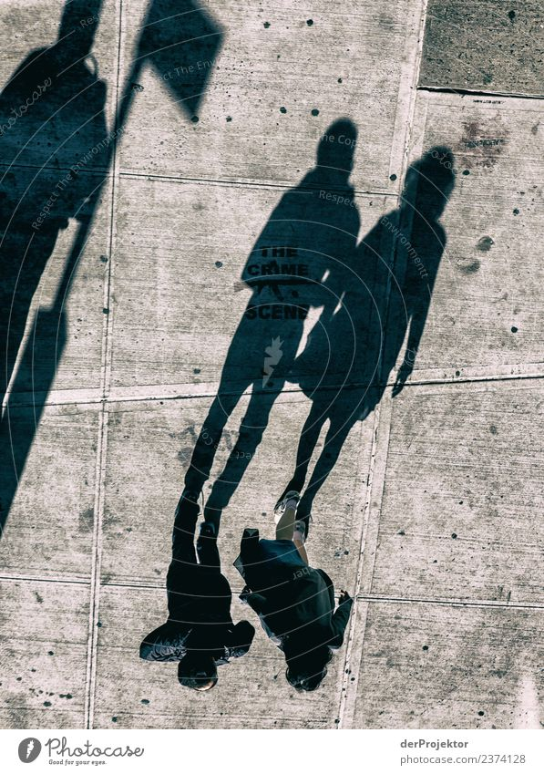 Only shadows Vacation & Travel Tourism Trip Adventure Freedom Sightseeing City trip Human being 3 Town Downtown Passenger traffic Street Esthetic Athletic