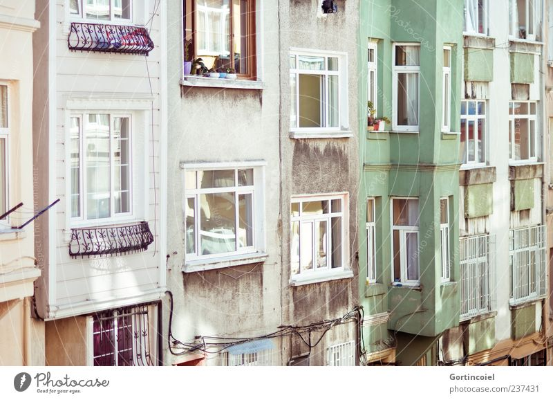Old City House (Residential Structure) Wall (building) Window Wall (barrier) Building Architecture Facade Old building Istanbul Oriel Housefront Oriel window