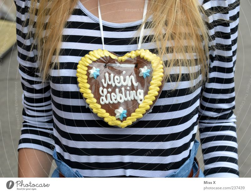 Human being Youth (Young adults) Love Nutrition Feminine Feasts & Celebrations Heart Blonde Adults Food Sweet Romance Kitsch Chest Delicious Candy