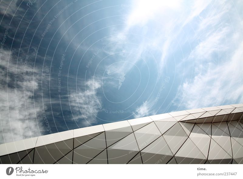Sky over Hamburg Clouds Manmade structures Architecture Blue Moody Life Esthetic Inspiration Climate Environment Change Art Roof Construction Colour photo