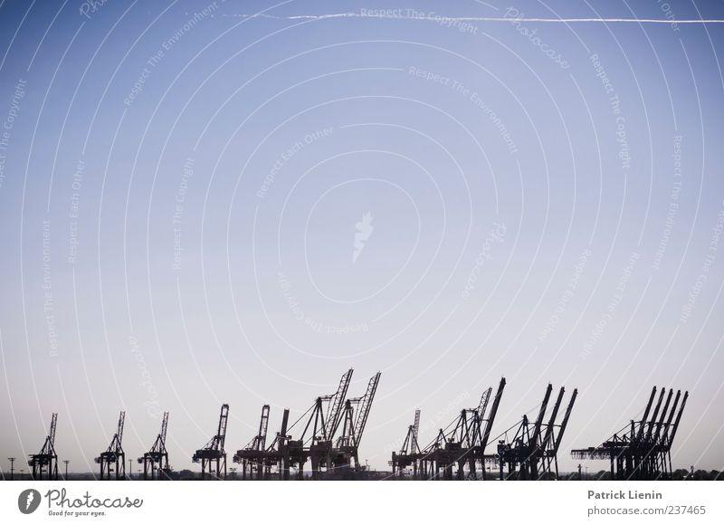 Sky Blue Moody Hamburg Many Harbour Bizarre Crane Sky blue Apocalyptic sentiment Dockside crane