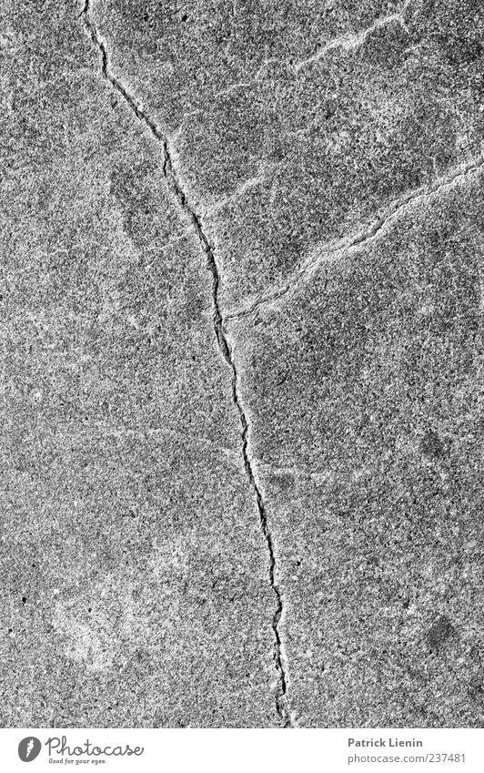 Old Street Lanes & trails Line Concrete Empty Floor covering Broken Ground Gloomy Trashy Crack & Rip & Tear Symmetry