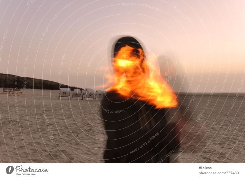 Beach Movement Fire Hot Flame Torch Retentive