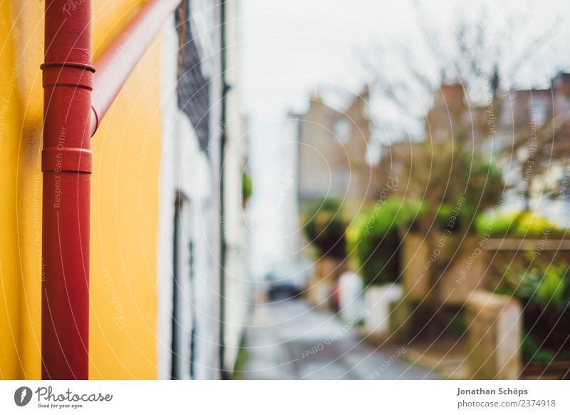 red rainwater pipe Town House (Residential Structure) Facade Elegant Brighton Conduit Rain Rainwater Rain gutter Downpipe Red Orange Multicoloured Alley