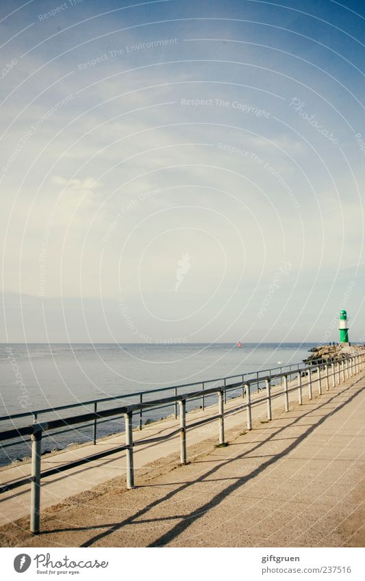 to the end of this world Environment Nature Landscape Elements Water Sky Horizon Beautiful weather Coast Baltic Sea Ocean Discover Unwavering Lighthouse