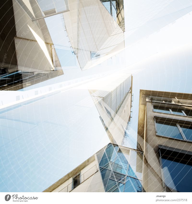 constructed Design Business High-rise Bank building Manmade structures Architecture Facade Window Exceptional Uniqueness Crazy Chaos Perspective Luxury Future