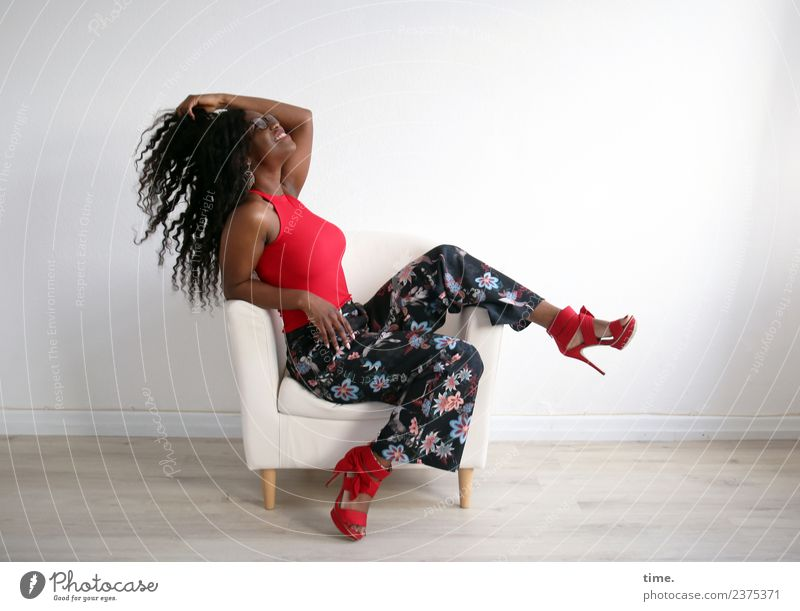 Woman Human being Beautiful Red Relaxation Joy Adults Life Movement Feminine Laughter Time Room Elegant Sit Happiness