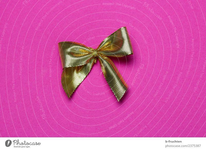 golden ribbon Feasts & Celebrations Wedding Birthday Baptism Bow Glittering Eroticism Feminine Gold Pink Desire Expectation Joy Gift wrapping Donate Box up
