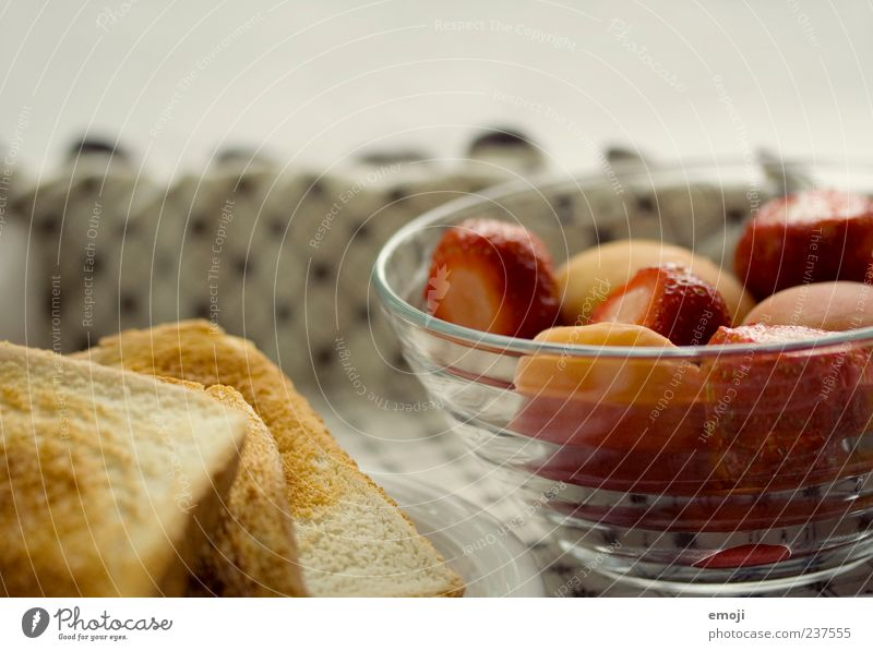 breakfast Food Fruit Bread Breakfast Buffet Brunch Vegetarian diet Delicious Nutrition Toast Strawberry Bowl Healthy Colour photo Close-up Deserted