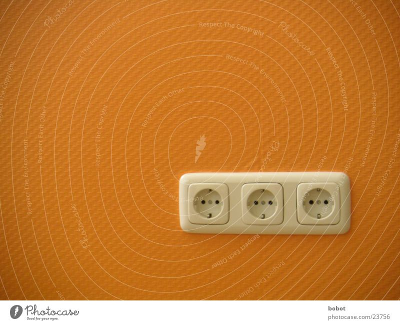Wall (building) Orange Energy industry Electricity Technology Connect Socket Connection Connector Electrical equipment Ingrain wallpaper